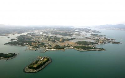 비토섬 갯벌 항공 사진_이미지
